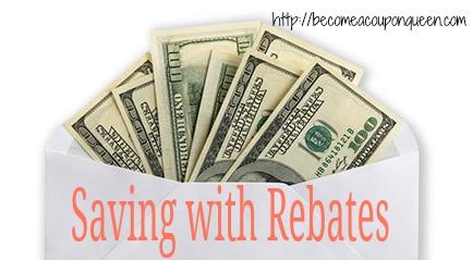saving money with rebates