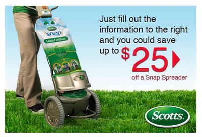 scotts SNAP lawn spreader coupon
