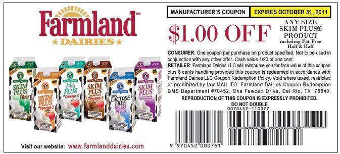 Farmland skim plus milk coupons