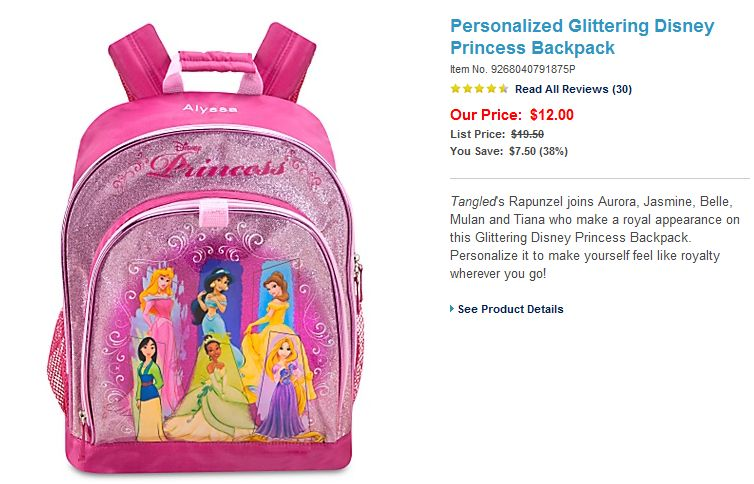 Disney Has Some Great Promotions Going On Right Now And I Found This Super Cute Personalized Backpack For Only 1200