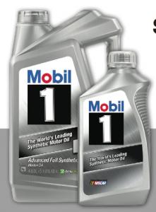 Autozone 10 1 mobil jug or 5 quarts motor oil become for Autozone motor oil specials