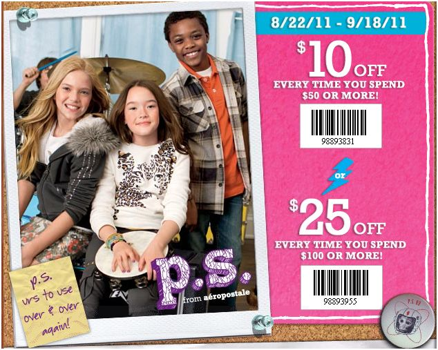Ps aeropostale coupon code