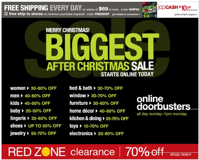 JCPenney After Christmas Sale Starts Tomorrow - Huge Sales + $10 ...