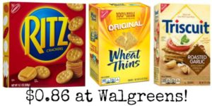 Walgreens: Nabisco Crackers Only $0.86!