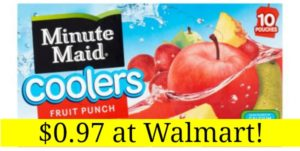 Walmart: Minute Maid Juice Coolers (10 pk) Only $0.97!