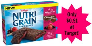 Target – Nutri-Grain Bars for as low as $0.91 per box!
