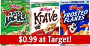 Target: Kellogg's Cereal Only $0.99!