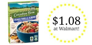 Walmart: Cascadian Organic Cereal as low as $1.08!