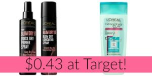 Target: L'Oreal Hair Care Items as low as $0.43!