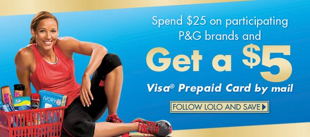 5 Visa Prepaid Card Rebate Wyb 25 On Participating P Amp G Products Become A Coupon Queen