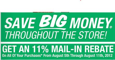 Get an 11% Mail in rebate on EVERYTHING at Menards this week
