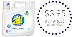 Target – All Free Clear Laundry Detergent 94 Loads Only $3.95!