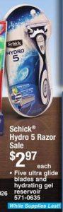 Schick Hydro 5 Blade Razor Only $0.97 at Menards or Price Match at Walmart!