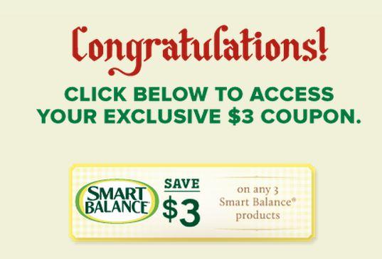 Smart balance coupons