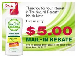 FREE Natural Dentist Mouth Rinse after Rebate!