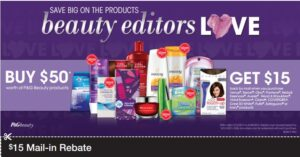 New $15 PG Rebate wyb $50 Worth of Products!