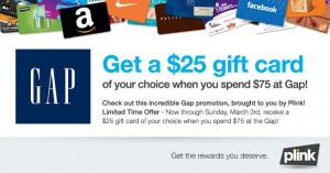 Plink Rewards Program: Free $5 Gift Card for Signing up!