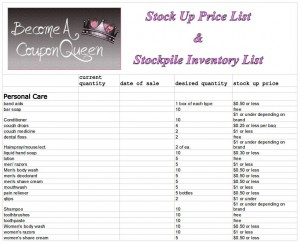 price list template printable .