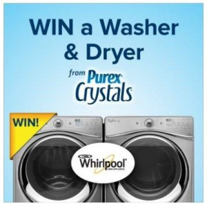 Win a Whirlpool Washer and Dryer from Purex!