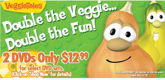 veggie tales 2 for 12.99