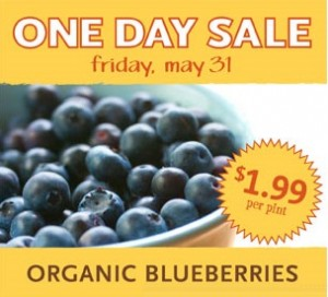 Today Only: Pints of Organic Blueberries, $1.99 each at Whole Foods