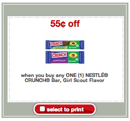 nestle crunch coupon - target