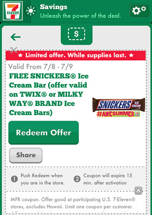 Free 711 coupons