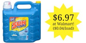 Walmart: Sun Laundry Detergent Only $0.04 Per Load!