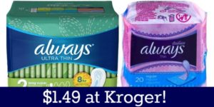 Kroger: Always Products Only $1.49!