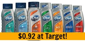 Target: Dial for Men Body Wash Only $0.92!