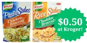Kroger: Knorr Rice and Pasta Sides Only $0.50!