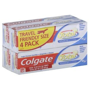 colgate travel size toothpaste 4 pack