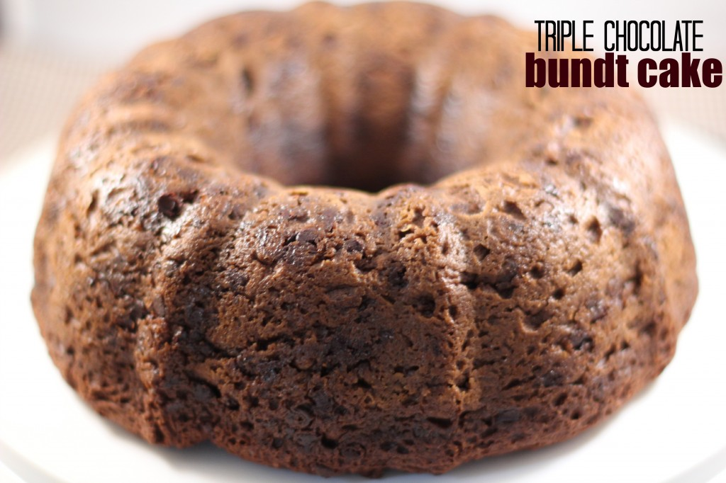 Triple Chocolate Bundt Cake!