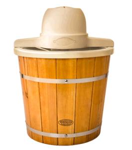 wooden ice cream maker
