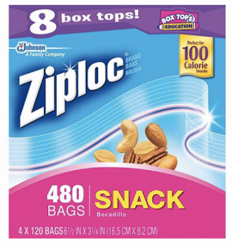 Hot 480ct Ziploc Snack Size Bags Only 1 71 At Sam S Club