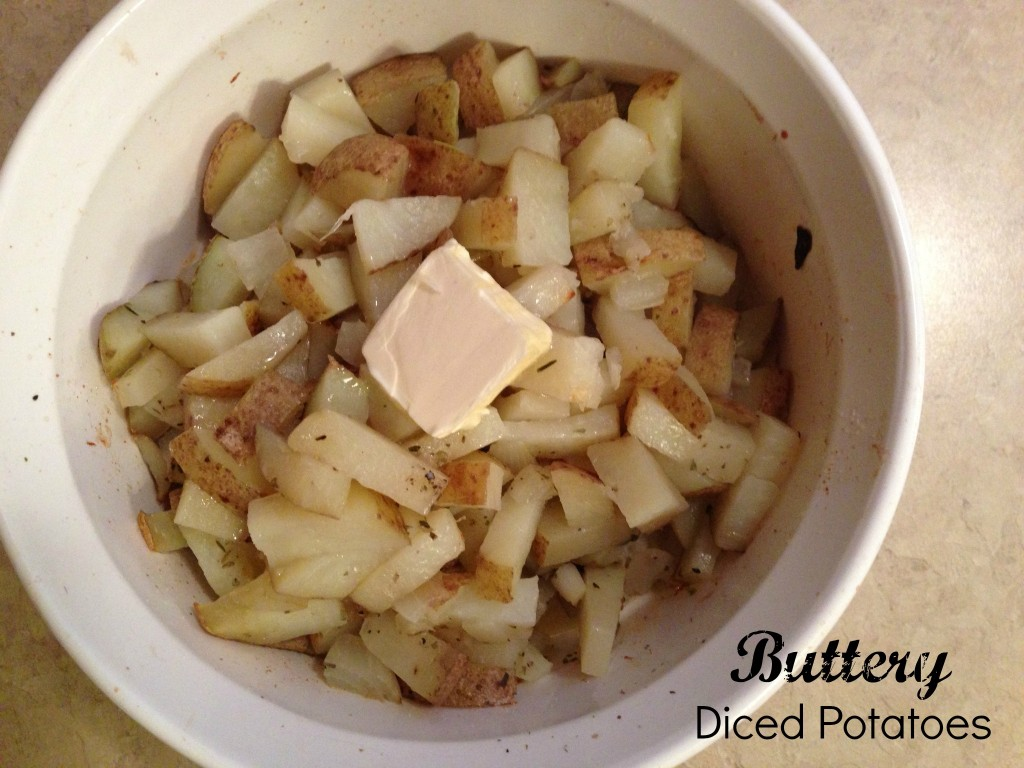 buttery diced potatoes