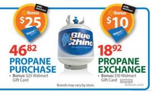 walmart blue rhino propane exchange deal