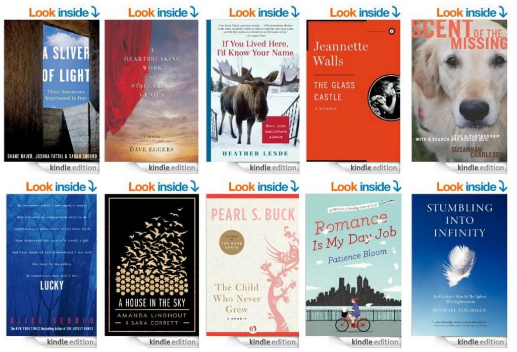 Top 10 Kindle Book Memoirs