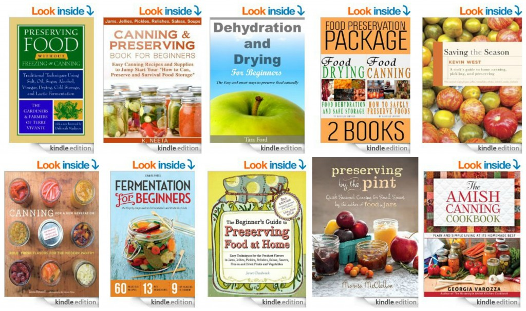 Top 10 Kindle Books on Canning and Preserving Food