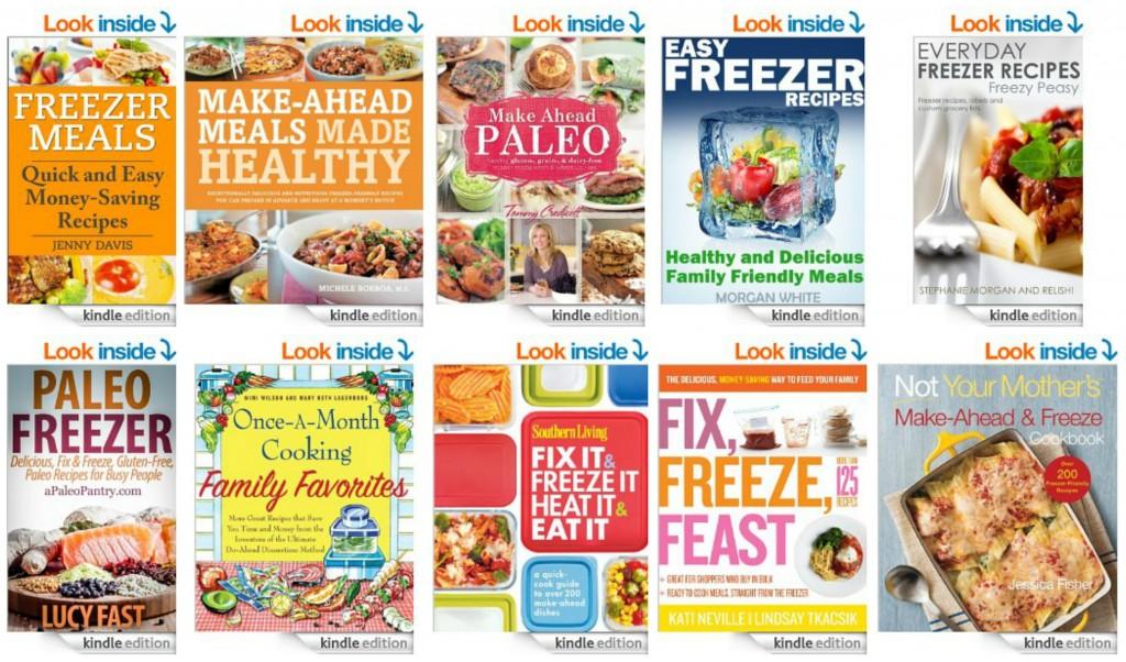 Top 10 Kindle Books on Freezer Meals