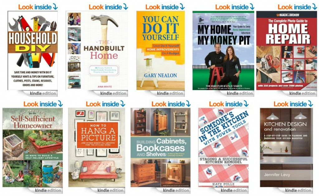 Top 10 Kindle Books on Home Improvement
