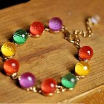 Colorful Crystal Bead Bracelet Only $2.81 SHIPPED!