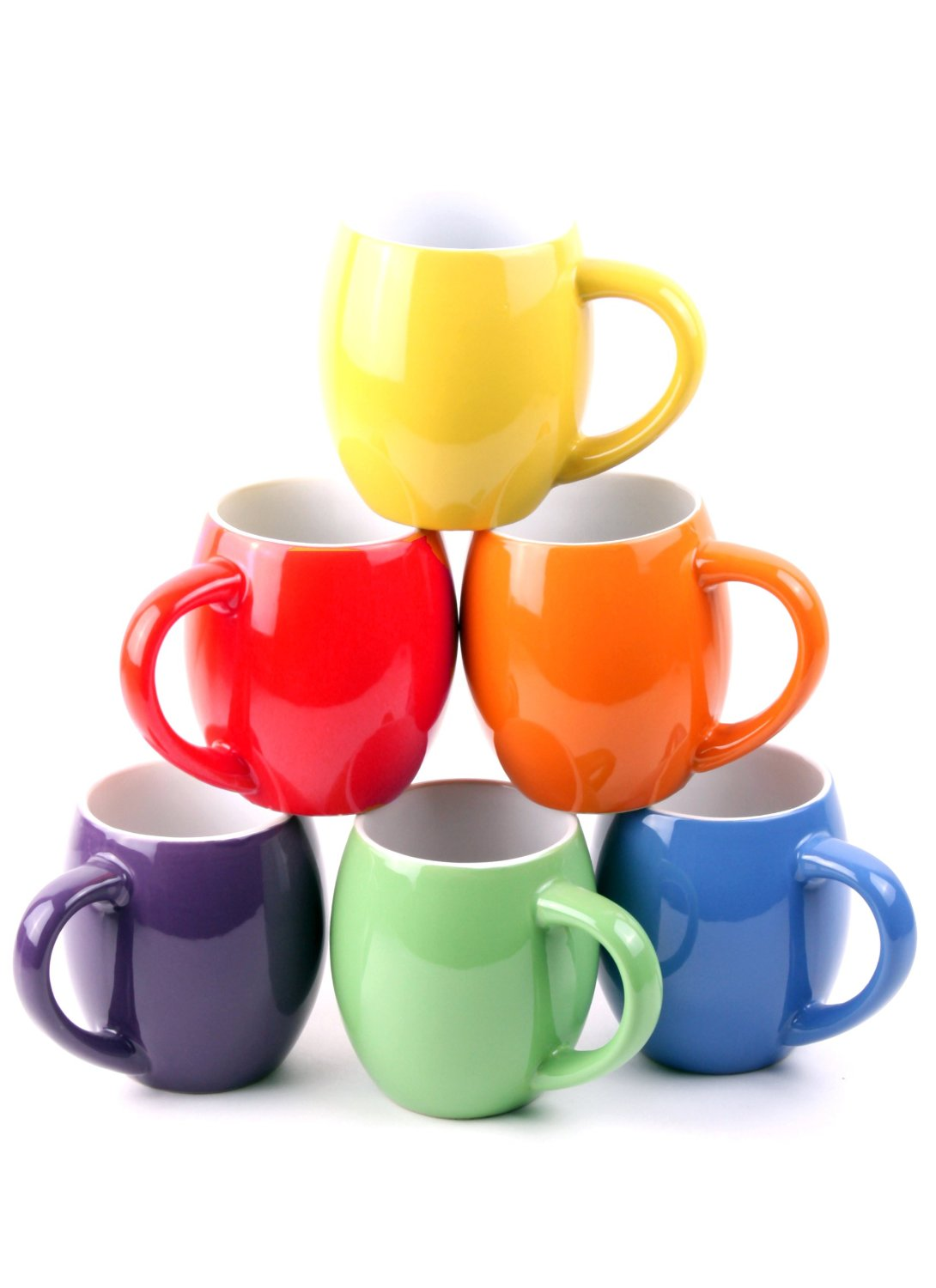 6 colorful ceramic coffee mugs just  14 99   reg   79 99