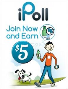 FREE $5 Bonus from iPoll!