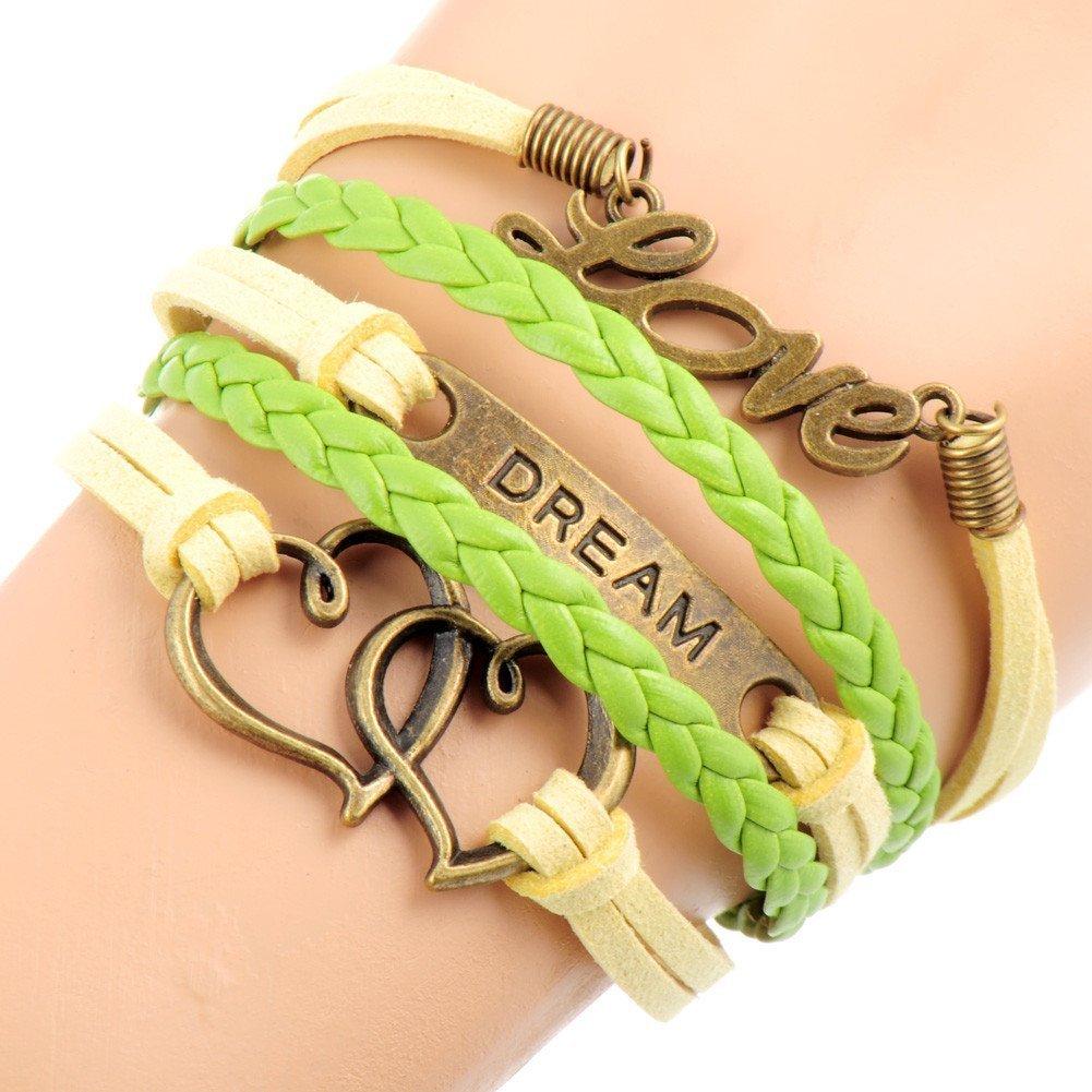 love dream heart rope bracelet