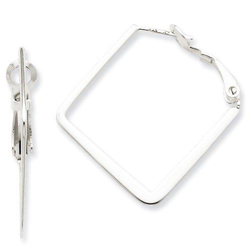 stainless steel square hoop earrings