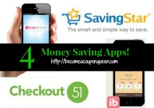 FOUR Money Saving Apps!