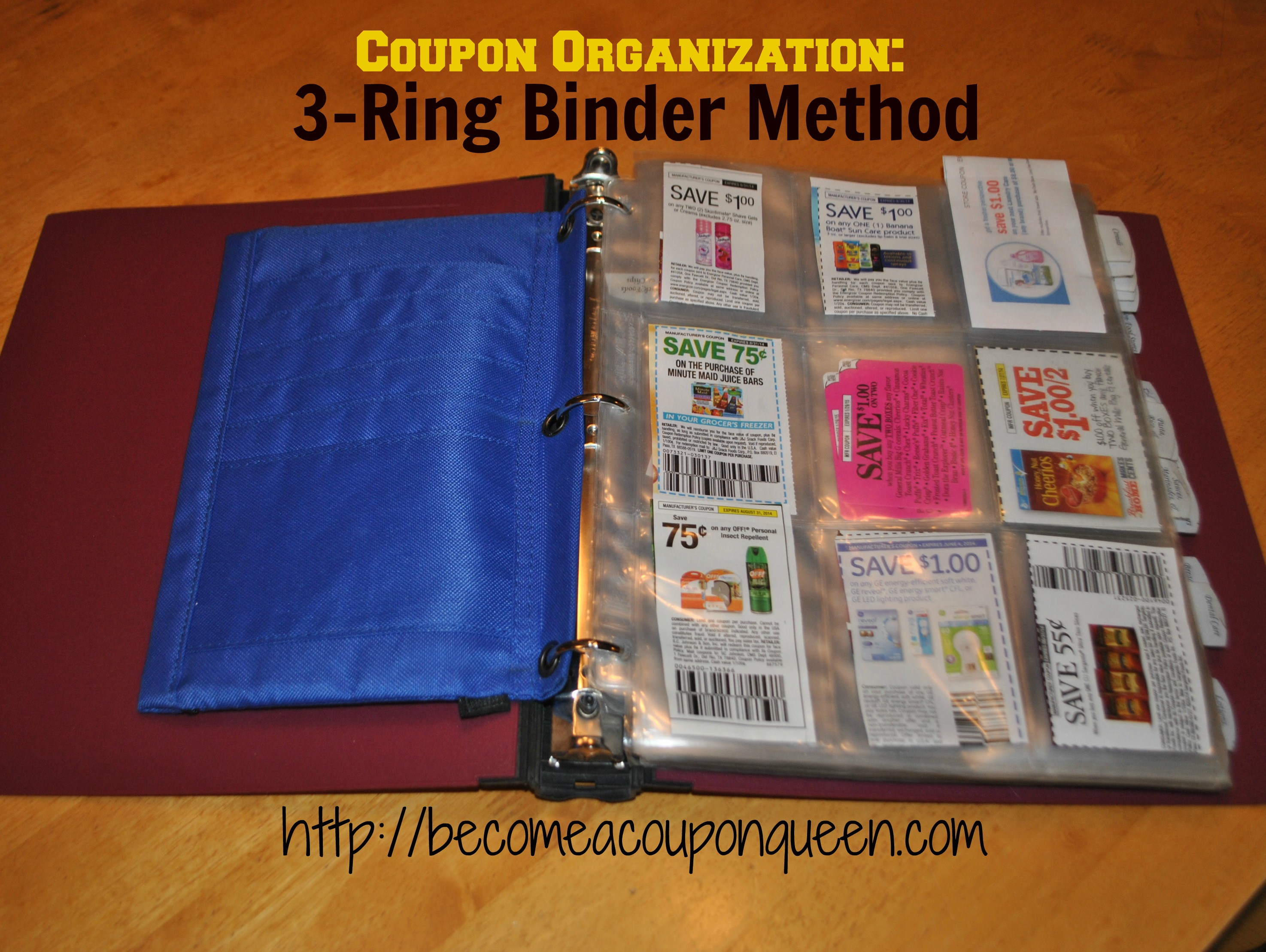 coupon organization 3-ring binder