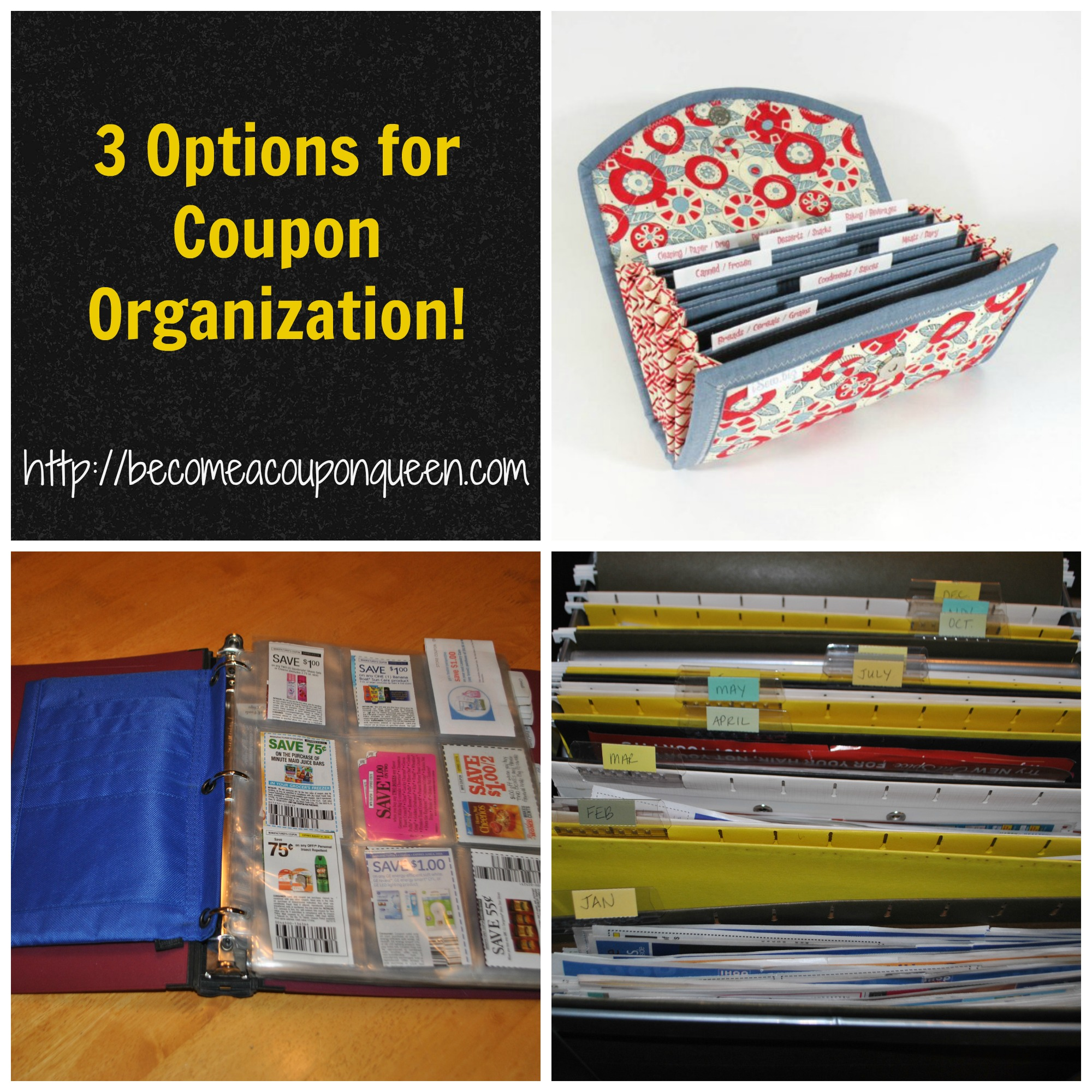 3 Options For Coupon Organization Expandable Folder