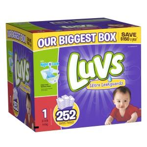 Sam's Club: Luvs Ultra Leakguards Diaper Boxes as low as $0.08 per Diaper!
